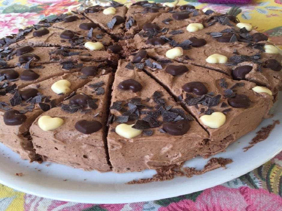 Birnen schoko torte mit tortenguss
