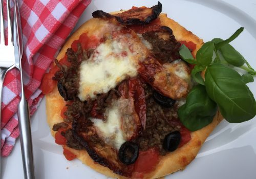 Mini-Dinkel-Pizza mit Hack