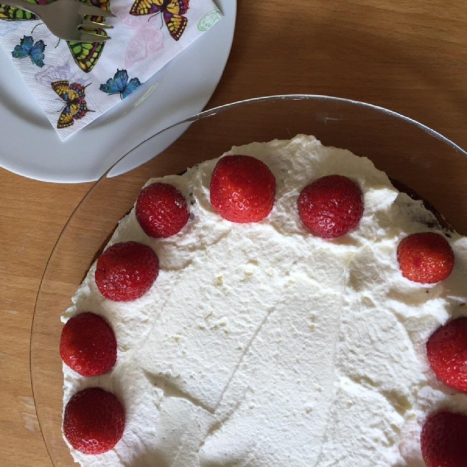 Einfacher Quarkkuchen Mit Erdbeeren Muddis Kochen
