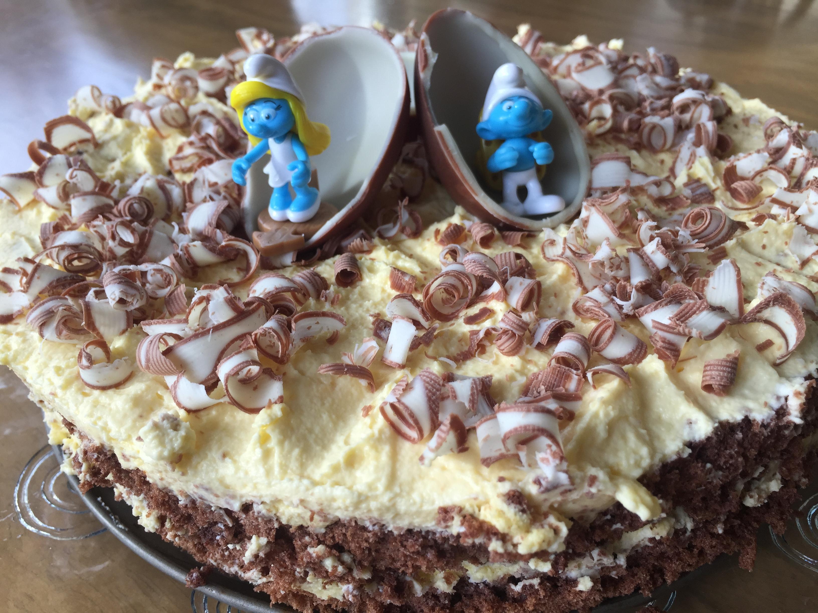 kuchen mit einem ei