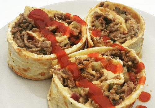 Cheeseburger-Rolle