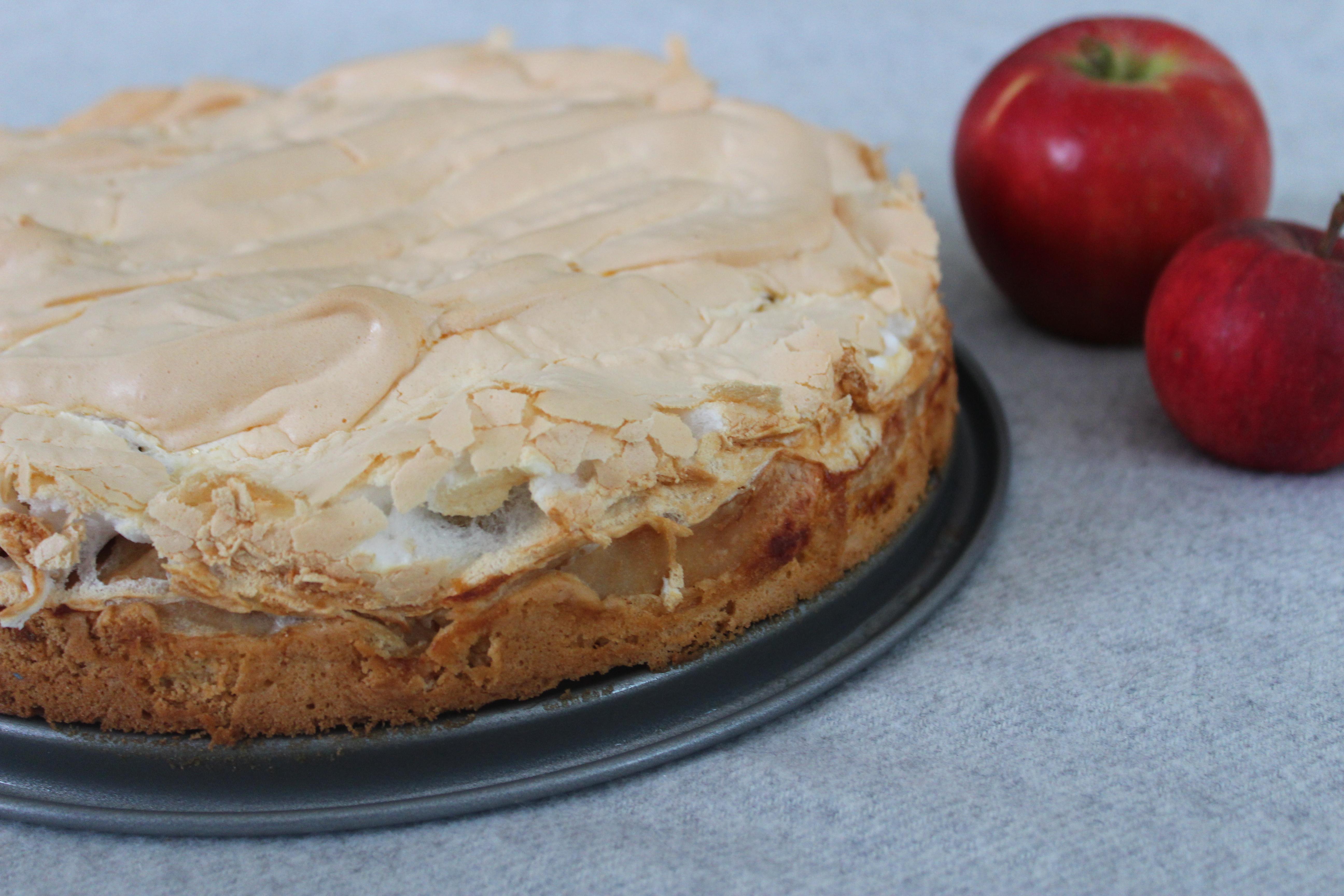 Apfel Baiser Kuchen Muddis Kochen