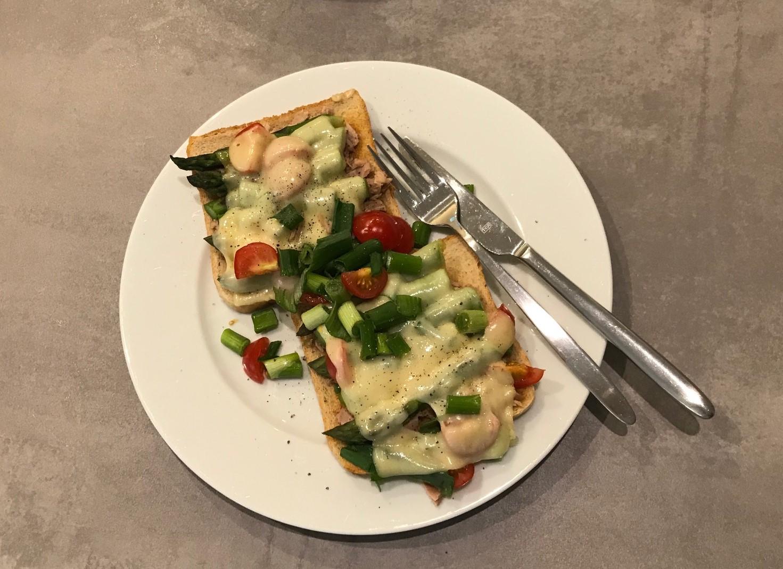 Grüner Spargel Toast Muddis Kochen