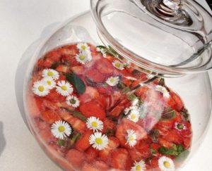 Erdbeer-Minz-Bowle